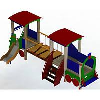 """Детский игровой комплекс """"Паровозик с вагончиком"""" на детскую площадку, фото 1"""