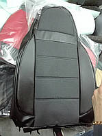 Чехлы на сиденья Тойота Авенсис (Toyota Avensis) (универсальные, кожзам, пилот) черный