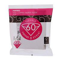 Бумажные белые фильтры для пуровера 02 Hario, 100 шт (Япония) ( Фильтра Харио v60) Оригинал