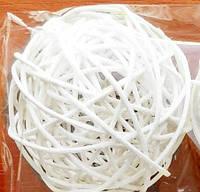 Шар из ротанга 3 см белый
