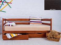 Детская односпальная кровать Ева с ящиками 70х140, цвет венге