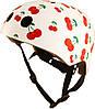 Шлем детский Kiddi Moto белый с вишенками, размер S 48-53см