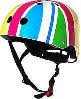 Шлем детский Kiddi Moto британский флаг в цветах радуги, размер S 48-53см