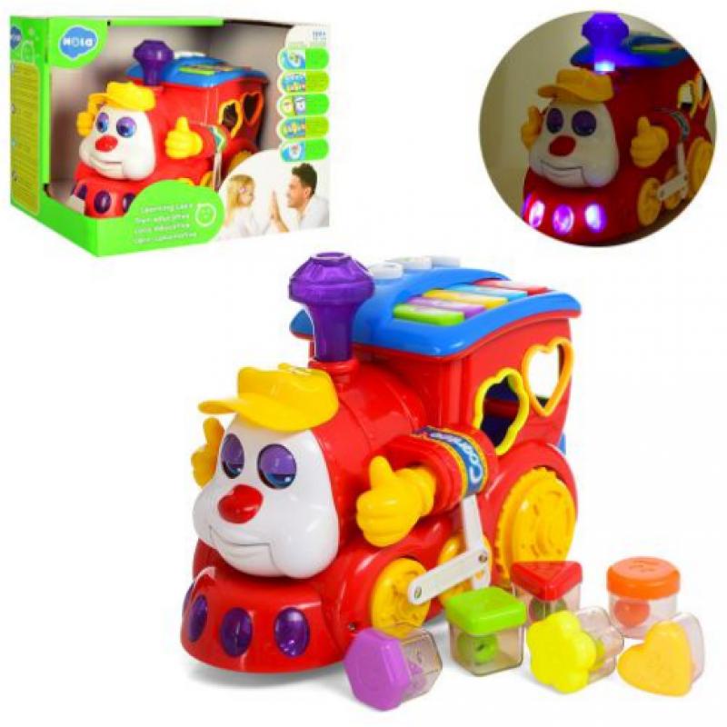 🔥✅ Развивающая музыкальная игрушка сортер Паровоз 556 говорящий с пианино