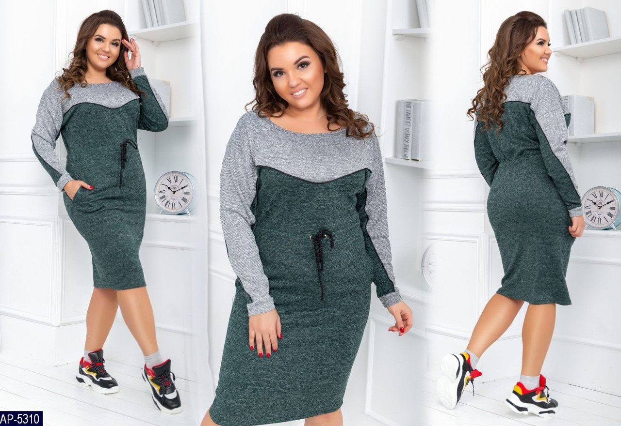 Стильное платье    (размеры 48-58)  0150-04