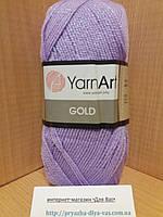 Акриловая пряжа с люрексом YarnArt Gold 9384 (сирень)