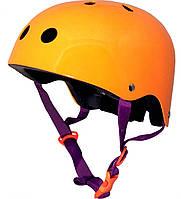 Шлем детский Kiddi Moto неоновый оранжевый, размер M 53-58см