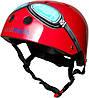 Шлем детский Kiddi Moto очки пилота, размер M 53-58см, красный