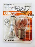Автомобильная лампочка Osram Original line 7528-02B P21/5W 12V (2 шт blister), фото 1