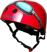Шлем детский Kiddi Moto очки пилота, размер S 48-53см, красный