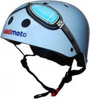 Шлем детский Kiddi Moto очки пилота, размер M 53-58см, синий