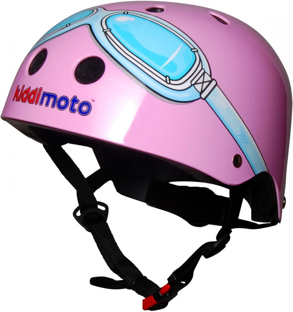Шлем детский Kiddi Moto очки пилота, розовый, размер M 53-58см
