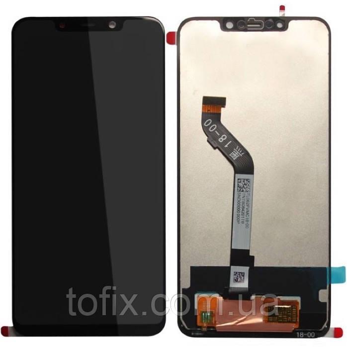 Дисплей для Xiaomi Pocophone F1 (M1805E10A), модуль в сборе (экран и сенсор), черный, оригинал