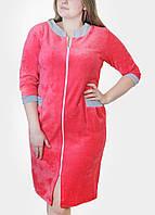 Оптом большие размеры женских халатов в 7 цветах, фото 1