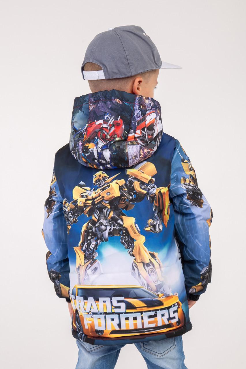 """Куртка для мальчика весна-осень с принтом """"Трансформеры"""" 110,116,122,128 роста"""