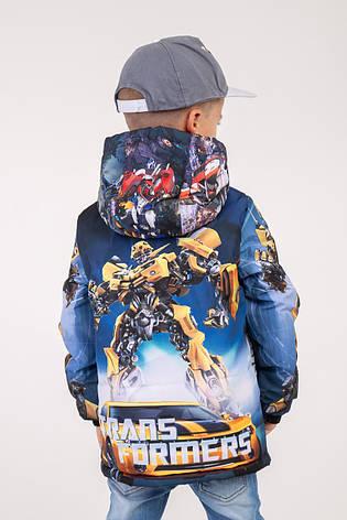 """Куртка для мальчика весна-осень с принтом """"Трансформеры"""" 110,116,122,128 роста, фото 2"""