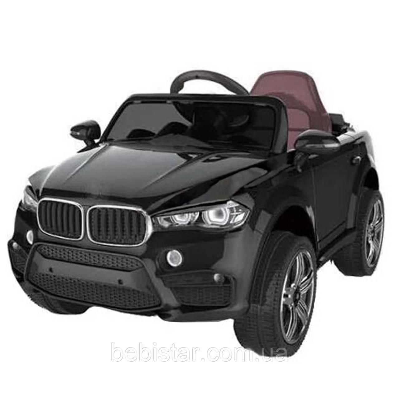 Детский электромобиль Джип черный T-7830 BLACK деткам 3-8 лет с пультом мотор 2*25W аккумулятор 2*6V4,5AH МР3