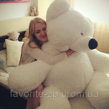 Большой плюшевый медведь Алина Бублик 200 см белый