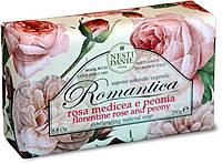 """Мыло """"Пион и роза"""" Romantica Nesti Dante, 250 гр"""