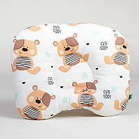 Подушка ортопедическая детская BabySoon Мой Мишутка 22 х 26 см цвет бежевый (182)
