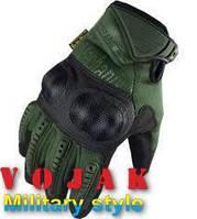 Тактические перчатки Mechanix M-Pact с кастетом (Olive)