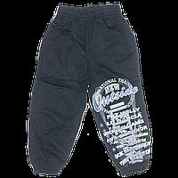 Детские спортивные штаны, плотный трикотаж с начесом, р.92, 98, 104, 110, Турция