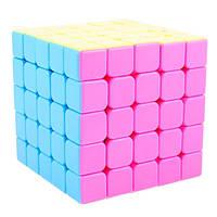 Кубик Рубика YJ Yuchuang 5x5 pink stickerless / Кубик без наклеек