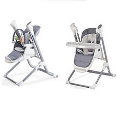 Детский стульчик для кормления 3 в 1 Lionelo Niles Grey