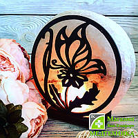 Соляная лампа «Бабочка на цветке» 3-4 кг