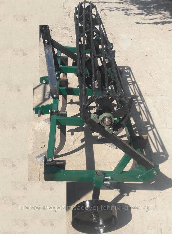 Культиватор сплошной обработки КУ-1,6 с грудобоем для минитрактора, трактора