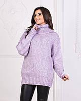 Теплый свитер пр-во Турция. Размер стандарт 42-46 Цвета - пудра,лиловый,молоко, морская волна,горчица.