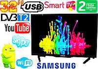 "ХИТ телевизоры  Samsung SmartTV 32"" Series6 FullHD,LED, IPTV, Android, T2, WIFI, USB"