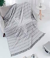 Хлопковый плед двухсторонний  AKSU ESTEE 150х200, фото 1