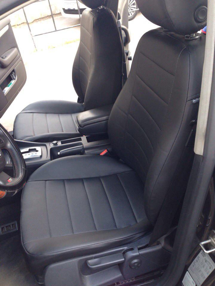 Чехлы на сиденья Шевроле Лачетти (Chevrolet Lacetti) (универсальные, кожзам, с отдельным подголовником)