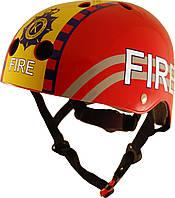 Шлем детский Kiddi Moto пожарный, красный, размер S 48-53см