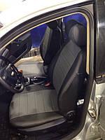 Чехлы на сиденья Фиат Линеа (Fiat Linea) (универсальные, кожзам, с отдельным подголовником), фото 1