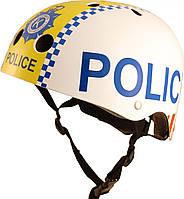 Шлем детский Kiddi Moto полиция, белый, размер M 53-58см