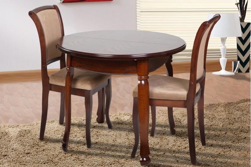 Стол Микс Мебель Гаити круглый Орех кухонный обеденный круглый раскладной