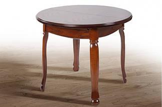 Стол Микс Мебель Гаити круглый Орех кухонный обеденный круглый раскладной , фото 3