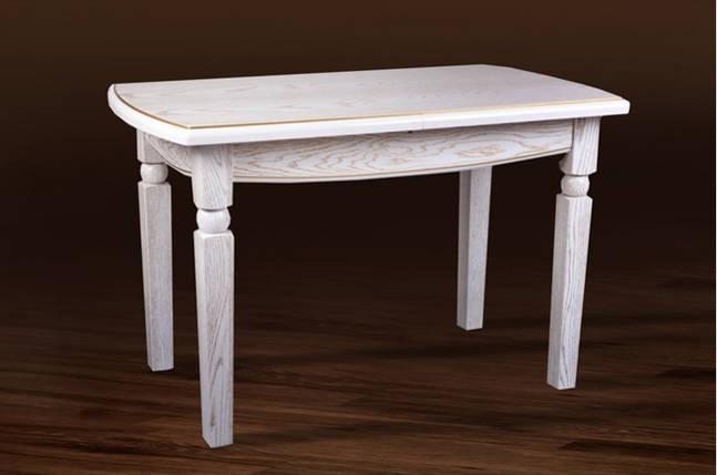 Стол Микс Мебель Кайман Белый с патиной кухонный обеденный прямоугольный раскладной , фото 2