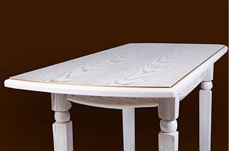 Стол Микс Мебель Кайман Белый с патиной кухонный обеденный прямоугольный раскладной , фото 3
