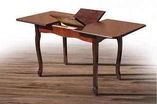 Стол Микс Мебель Лидер Тёмный орех кухонный обеденный прямоугольный раскладной , фото 2