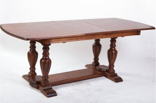 Стол Микс Мебель Палермо Орех кухонный обеденный прямоугольный раскладной , фото 2