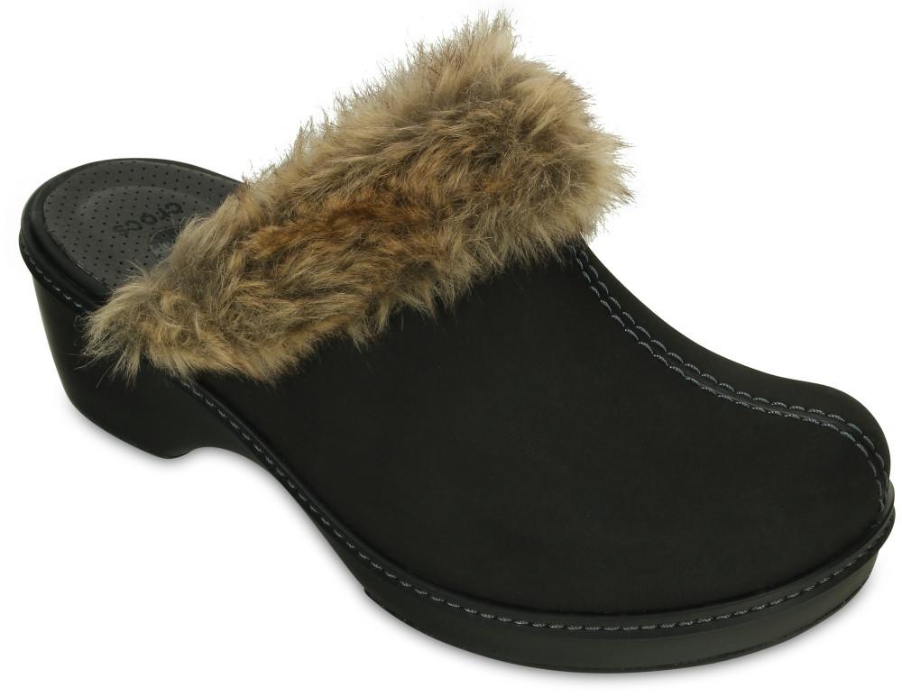 Тапочки Crocs cobbler fuzz clog US 6