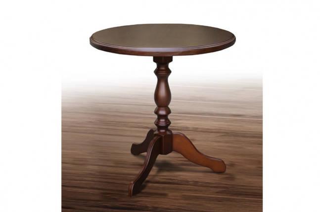 Стол Микс Мебель Одисей Орех круглый кухонный кофейный круглый нераскладной , фото 2