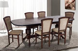 Стол Микс Мебель Гетьман Орех кухонный обеденный овальный раскладной , фото 2