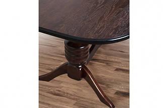 Стол Микс Мебель Гетьман Орех кухонный обеденный овальный раскладной , фото 3