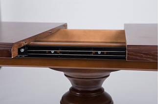 Стол Микс Мебель Триумф Тёмный орех кухонный обеденный овальный раскладной , фото 2