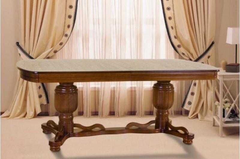 Стол Микс Мебель Барон Орех кухонный обеденный овальный раскладной