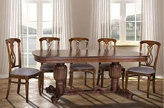 Стол Микс Мебель Барон Орех кухонный обеденный овальный раскладной , фото 2